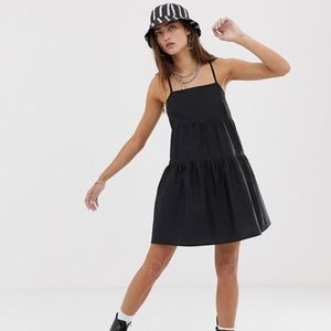 ASOS collusion tall tiered can smock mini dress